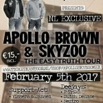 Vissers & Jansen- Support Act- Apollo Brown- Skyzoo- Easy Truth